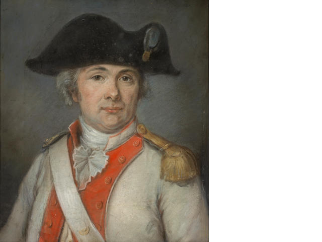 French School A portrait of a military officer sight 20 x 17 1/2in (50.8 x 44.4cm)