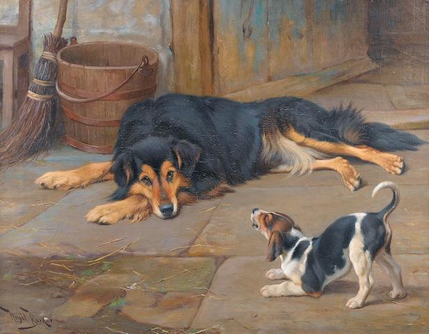 Wright Barker (British, 1863-1941) Dignity and Impudence