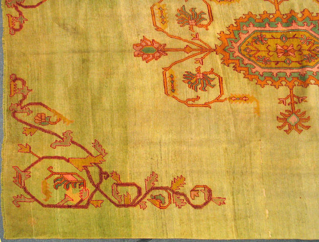 An Oushak carpet596 size approximately 12ft. 3in. x 16ft. 9in.