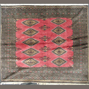A Pakistani carpet size approximately 6ft. x 6ft.