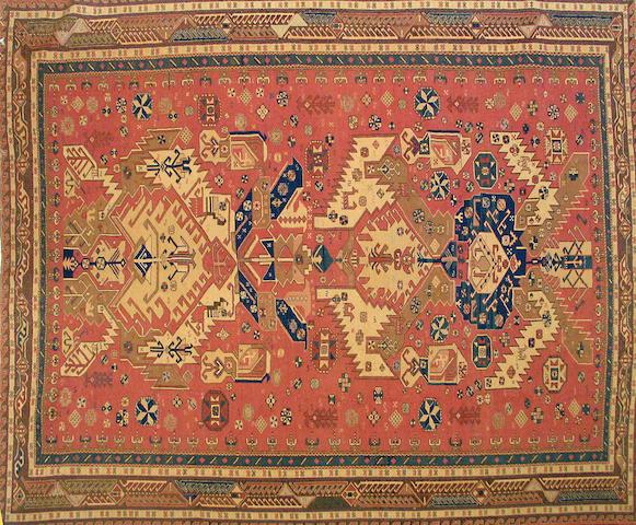 A carpet size approximately 8ft. x 10ft.