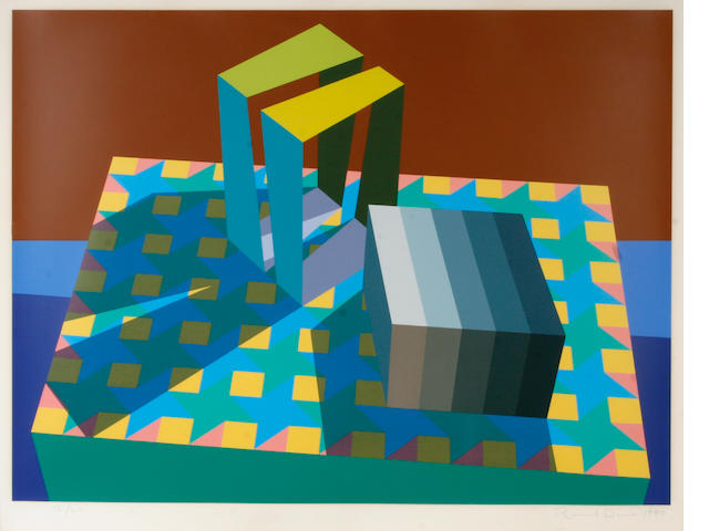 Ronald Davis (American, born 1937); Untitled (Geometric composition);