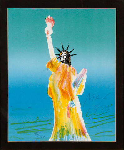 Peter Max (German/American, born 1937); from Statue of Liberty I-IV?; (3)