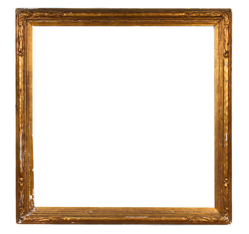 A carved and gilded Newcomb-Macklin frame 29 1/4 x 29 1/4in