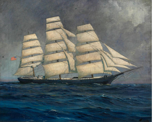 Follower of Frederick Waugh (1861-1940) A ship at Sea