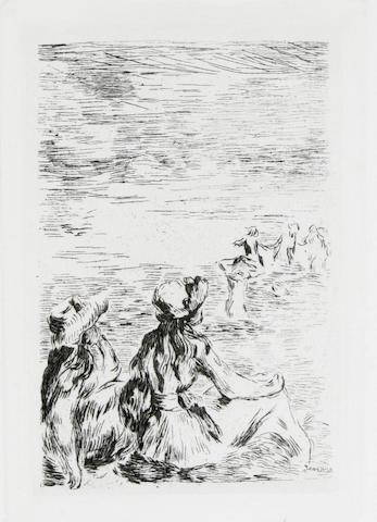 Pierre-Auguste Renoir (French, 1841-1919); posthumous etchings; (2)