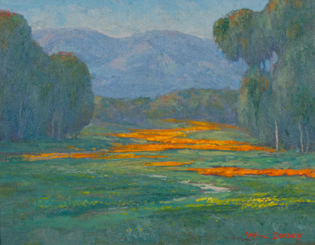 (n/a) William Dorsey (born 1942) Wild Flowers near Santa Barbara 11 x 14in