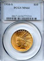 1910-S $10 MS64 PCGS (PCGS 8867)