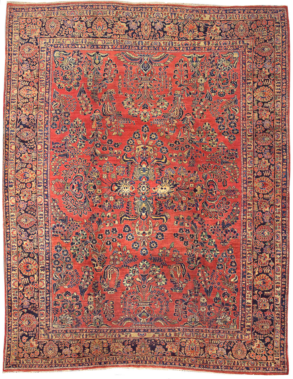 A Sarouk carpet Central Persia, size approximately 8ft. 11in. x 11ft. 4in.