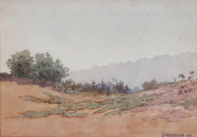 (n/a) O.H. Hansen (American, 20th century) A Pair of Landscapes (Two) Each 7 x 10in