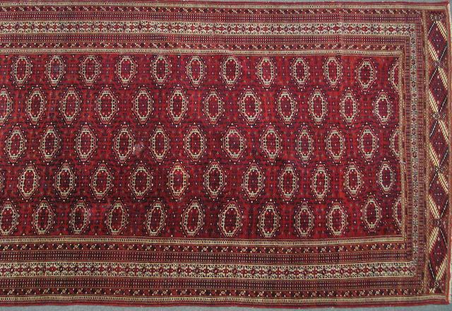 A Turkoman carpet96 Turkestan, size approximately 7ft. 2in. x 12ft. 4in.