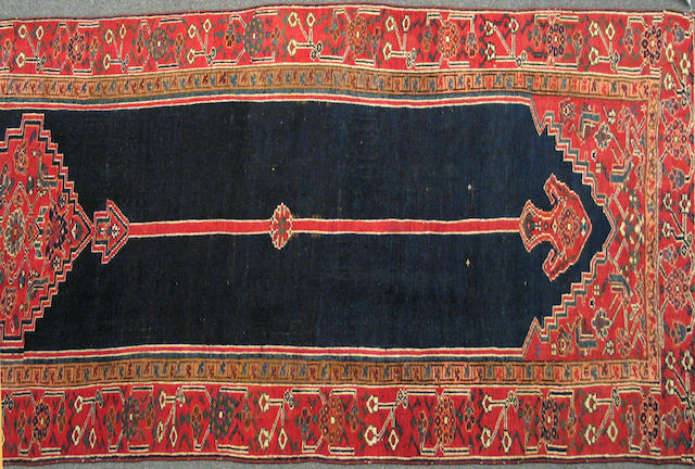 A Bidjar runner Northwest Persia, size approximately 3t. 10in. x 15ft. 8in.