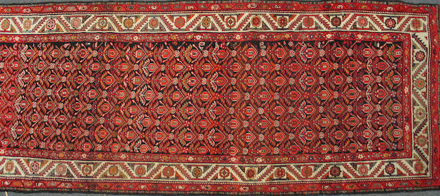 A Kurdish runner Caucasus, size approximately 3ft. 9in. x 12ft. 5in.