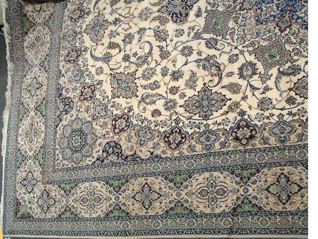 A Nain carpet size approximately 14ft. 2in. x 22ft. 3in.