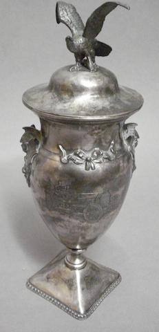 A silverplated motoring trophy by Reed & Barton, American, circa 1910,
