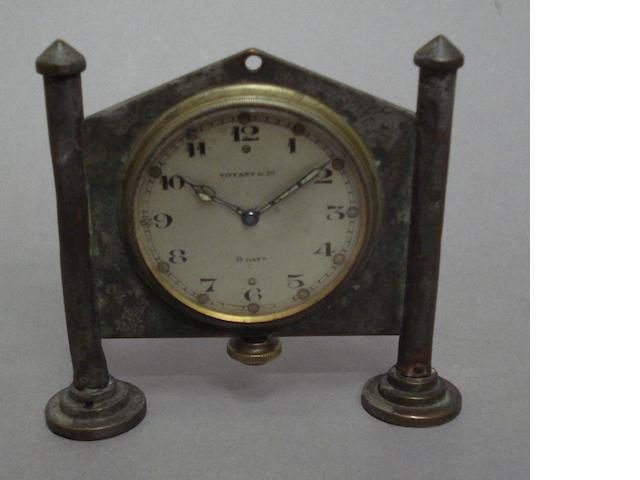 A Tiffany & Co eight day car clock, 1920s,