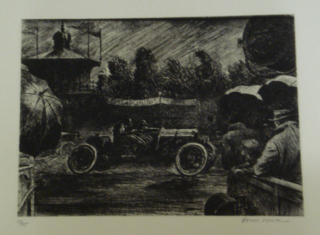'Poole Rides the Gale', etching after Peter Helck,