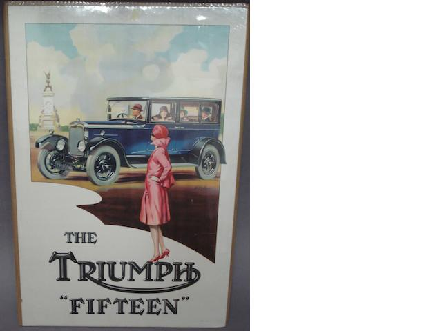 The 'Triumph Fifteen' poster, 1920s,