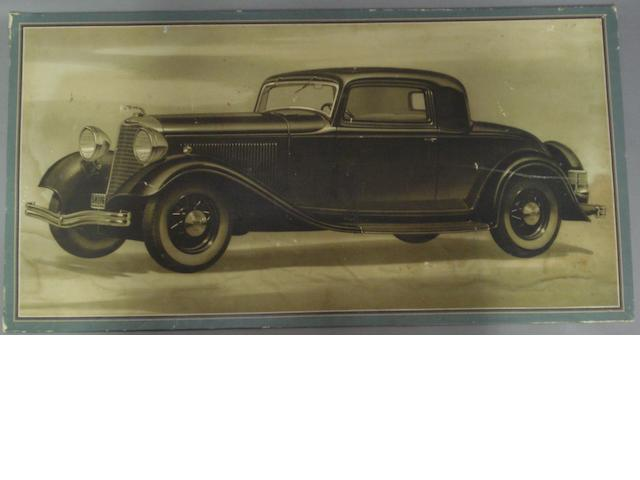 A Lincoln showroom advertisng panel, 1930s,
