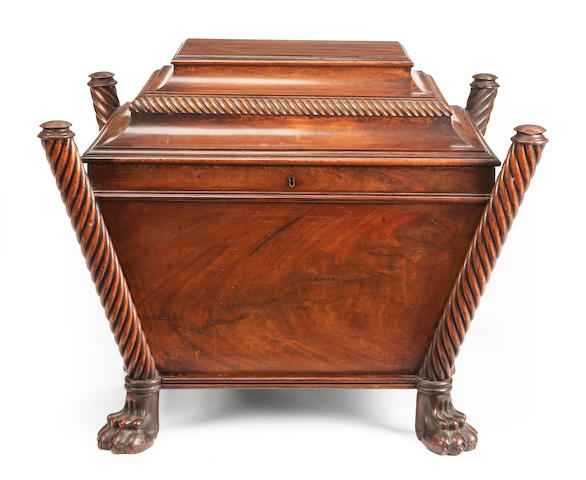 A Regency mahogany wine cooler