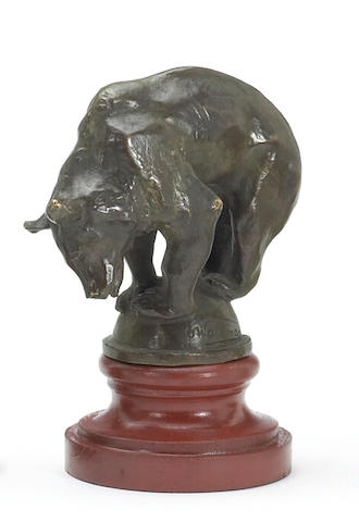 A rare bear mascot by the very known Oscar Waldmann, French circa 1920,