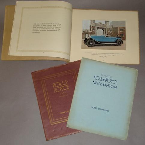 A Rolls-Royce 40/50Hp six cylinder Phantom car sales brochure, march 1929,