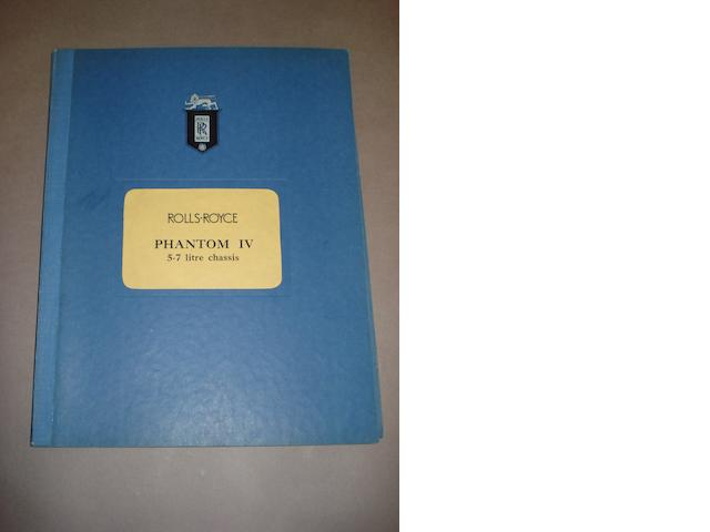 A scarce Rolls-Royce Phantom IV sales/press folio,