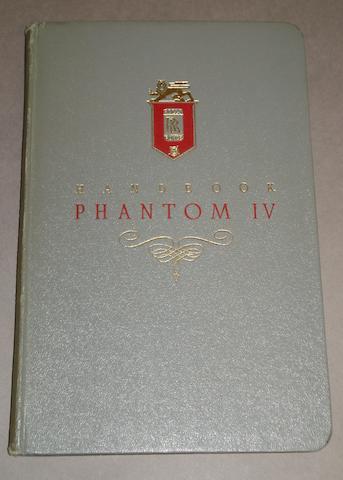 A scarce Rolls-Royce Phantom IV handbook,