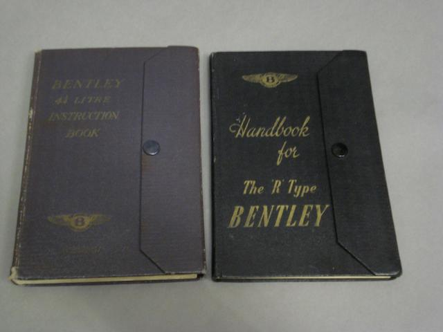A Bentley 4 1/4 Litre Instruction book,
