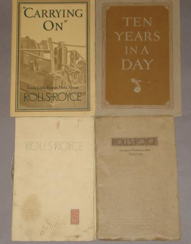 A selection of Rolls-Royce design and coachwork sales literature,