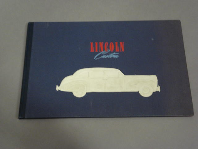 A Lincoln Custom sales brochure, 1941,