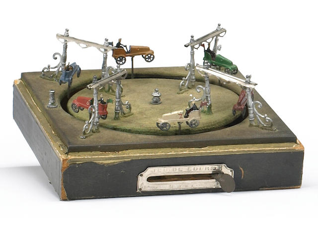 French Jue de Course by M.D & Cie, Carousell type racing game, circa 1903,