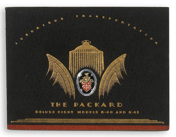 A Packard Deluxe 8 sales brochure,