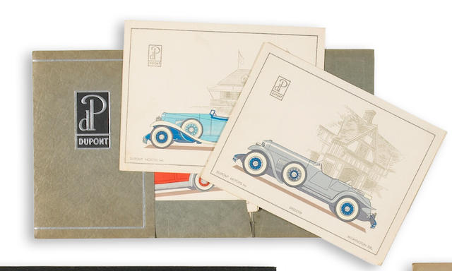 A Dupont Motorcars sales folio,