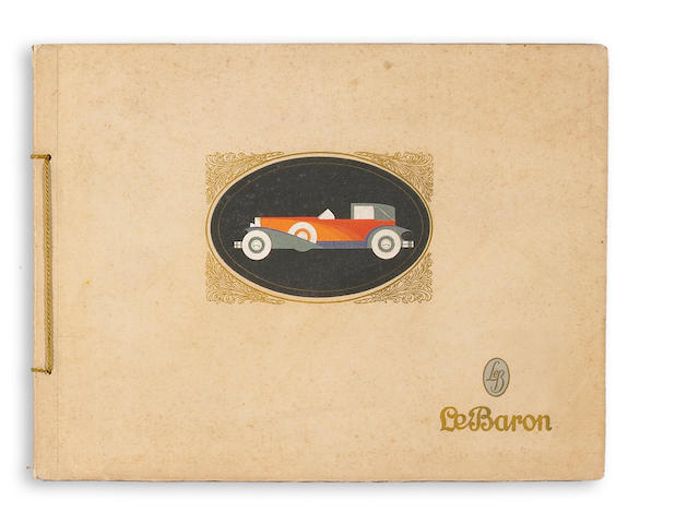 An extremely rare Le Baron coachwork catalogue, 1928,