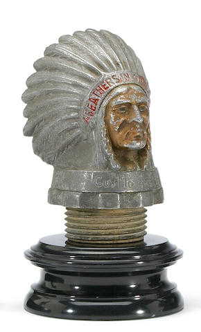 An Indian Head Warrior mascot for Guy Motors, c. 1935-40,