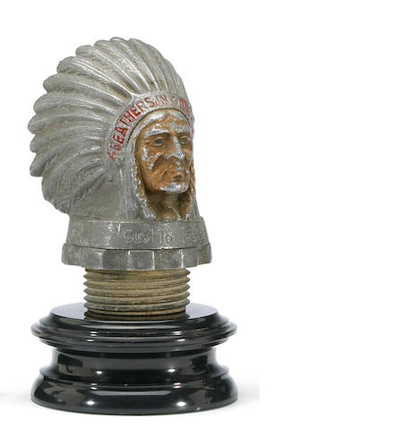 Motors on Bonhams   An Indian Head Warrior Mascot For Guy Motors  C  1935 40