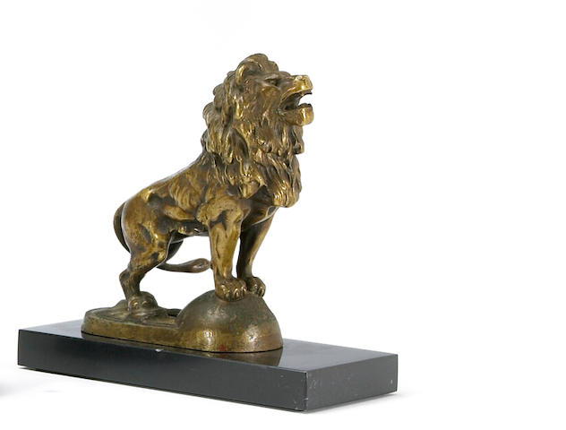 A good Lion mascot, Graf & Stift, Austrian, c. 1916,