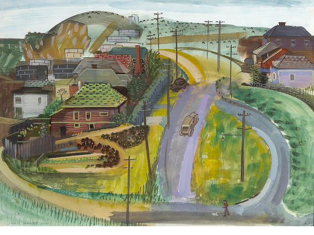 John Haley, Richmond Hills, w/c, 14 x 19in