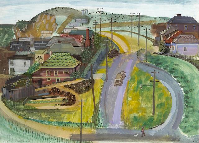 John Haley, Richmond Hills, w/c, 14 x 19in