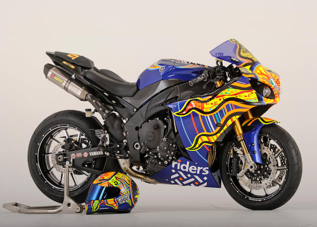 """Charity auction benefiting Friends of Riders for Health,2009 Yamaha YZF-R1 """"Rossi Replica"""" Frame no. JYARN23Y79A000991 Engine no. N520E-004816"""