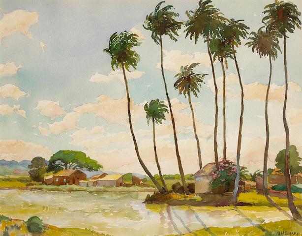 Joseph Henry Sharp (American, 1859-1953) Waipahu 14 x 18in