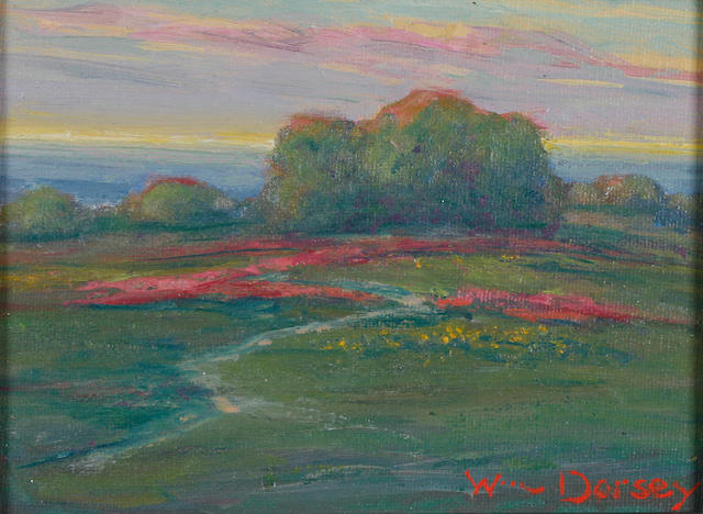 (n/a) William Dorsey (born 1942) Wildflowers along the Coast 6 x 8in