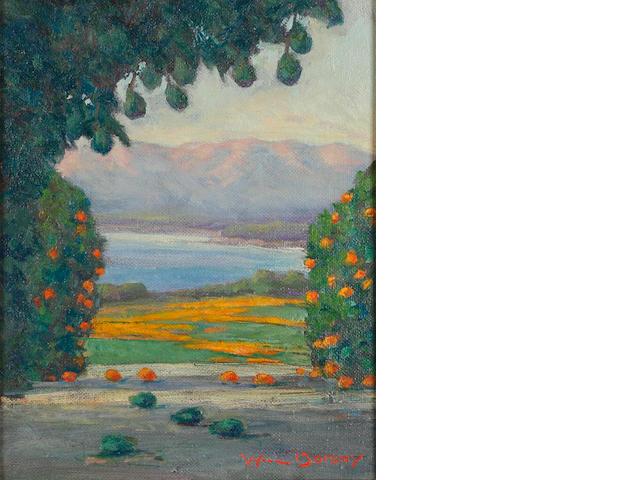 William Dorsey, Orange Trees and Poppies (D11)