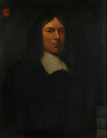 Follower of Nicolaes  Maes (Dutch, 1634-1693) A portrait of a gentleman, half-length 29 x 22 1/2in