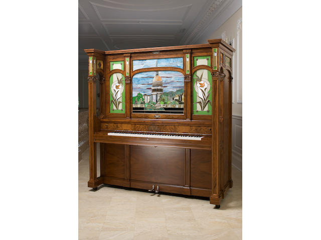 A Seeburg Orchestrion, Model J, Circa 1916, with the 'Capitol Building' stained art glass panel,