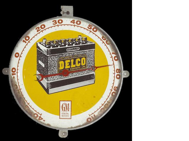 A good original Delco advertising thermometer,