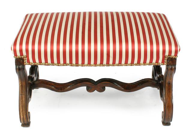 A Regence style walnut stool