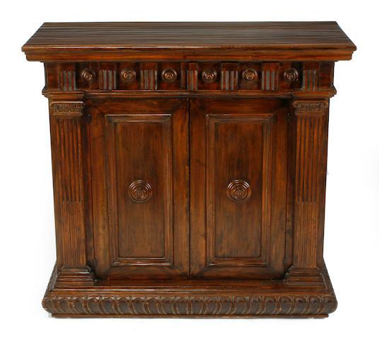An Italian Renaissance Revival walnut side cupboard
