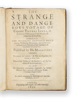 1633	1633	James, [Capt. Thomas]	The Strange and Dangerous Voyage of Captaine Thomas James,...	London	2000	 $35,935 	Maggs Brothers, 21 Jan 2000.  BP 21,715